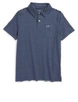 Vineyard Vines Boy's Feeder Stripe Jersey Polo