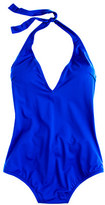 Thumbnail for your product : J.Crew Italian matte deep V-neck one-piece swimsuit