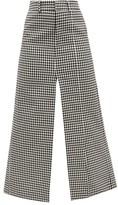 A.W.A.K.E. Mode High-rise Gingham Maxi Skirt - Womens - Black White