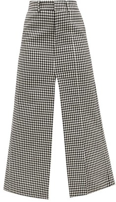 A.W.A.K.E. Mode High-rise Gingham Maxi Skirt - Black White