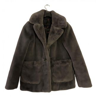 Oakwood Grey Faux fur Coats