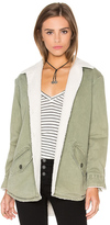 Monrow Vegan Sherpa Lined Shirt Jacket
