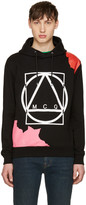 McQ by Alexander McQueen Black Abstract Icon Clean Hoodie