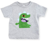 Mi Cielo Toddlers' Reptar Short-Sleeve Jersey Tee, Heather Gray, Size 2T-7T