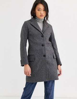 Gloverall Chesterfield wool blend tailored coat-Gray