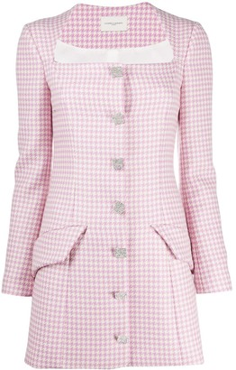 Giuseppe di Morabito Houndstooth Fitted Dress
