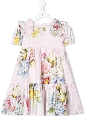 MonnaLisa Tiered Floral Print Dress