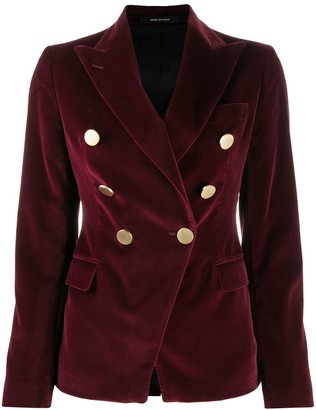 Tagliatore Tailored Velvet Blazer
