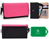 QMobile X250, QMobile X450 Wristlet wallet phone holder with Card slots and Coin Pocket