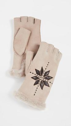 Agnelle Flocon Fingerless Gloves