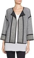 St. John 2-Tone Lattice Knit Reversible Jacket