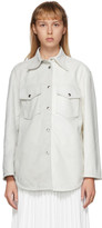 MM6 MAISON MARGIELA White Leather Two-Tone Shirt