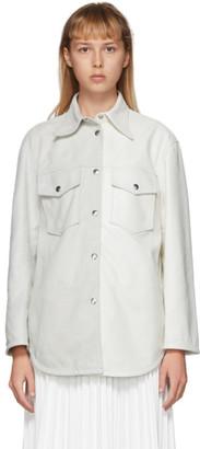 MM6 MAISON MARGIELA White Leather Two-Tone Shirt