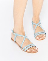 Miista Jo Strappy Leather Flat Sandals