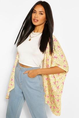 boohoo Ditzy Print Kimono
