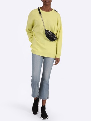 Balenciaga Yellow Over-sized Crewneck Sweater