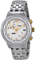 Timex Intelligent World Time White Dial Stainless Steel Men's Watch