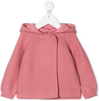 Stella McCartney Kids Bunny Hood Buttoned Cardigan