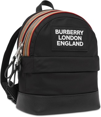 Burberry Nylon Backpack W/ Rubber Patch