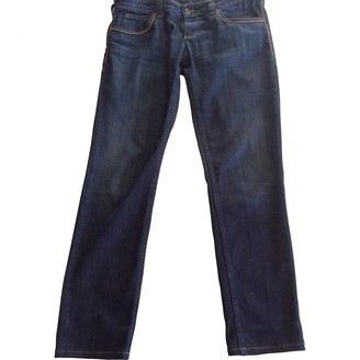 Armani Jeans Blue Cloth Trousers for Women