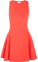 Halston Cutout Stretch-crepe Mini Dress - Orange