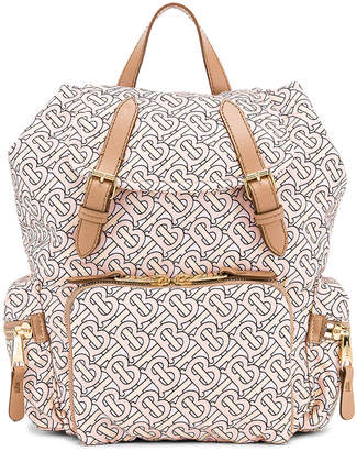 Burberry Monogram Backpack in Blush | FWRD