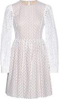 Michael Kors Broderie anglaise cotton mini dress