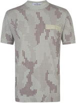 Stone Island Check Grid T Shirt