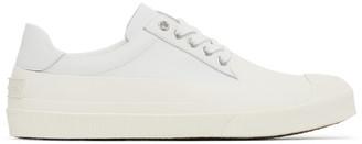 Dries Van Noten White Calfskin Low-Top Sneakers