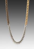 Luv Aj The Ombre Chain Necklace in Gold/Silver