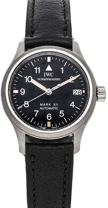 IWC Black Stainless Steel Pilot's Mark XII IW4421-01 Women's Wristwatch 28 MM