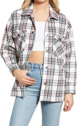 BP Front Button Fleece Shirt Jacket