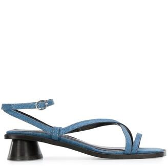 BY FAR Yumi 45mm denim sandals