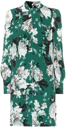 Erdem Michela floral crepe minidress