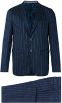 Etro bar stripe two-button suit - men - Silk/Linen/Flax/Polyester/Wool - 48