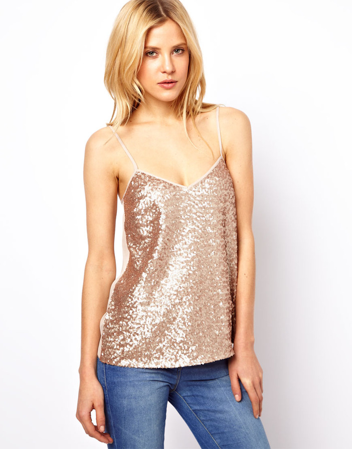 Asos Cami with Sequin Front