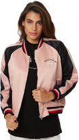 Stussy Womens World Tour Bomber Pink