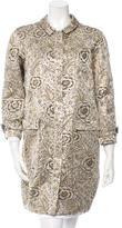 Burberry Floral Brocade Coat