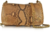 Jerome Dreyfuss Bobi Golden Python Leather Shoulder Bag