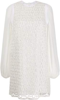 Giamba long-sleeved metallic dress