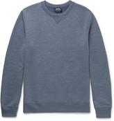 A.p.c. - Slim-fit Mélange Loopback Jersey Sweatshirt