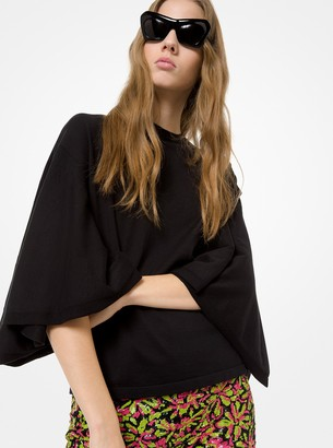Michael Kors Cotton Flutter-Sleeve Tunic