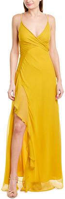Nicholas Tie-Front Silk Maxi Dress