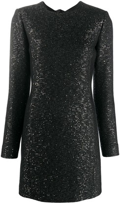 Saint Laurent Sequin-Embellished Mini Shift Dress