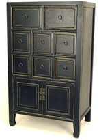 World Menagerie Rushmore 8 Drawer Apothecary Accent Chest World Menagerie Color: Black