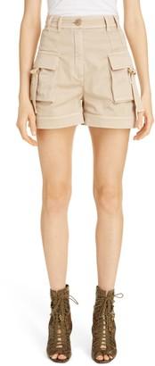Balmain High Waist Cargo Shorts