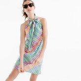 J.Crew Tie-neck dress in rainbow gingham