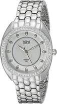 Burgi Women's BUR145SS Round Dial Three Hand Quartz Bracelet Watch