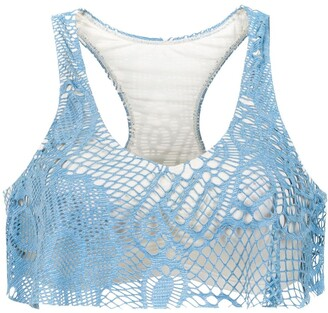 Track & Field Cropped Bikini Top