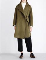 Sportmax Belted wool cocoon coat